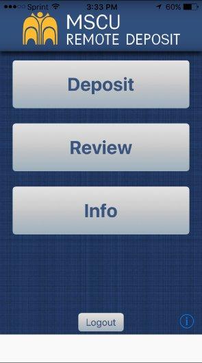 Remote Deposit App